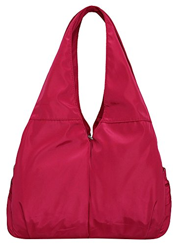 Hobo Large Capacity Women Handbag Pocket Nylon Bag Red Tote Waterproof Shoulder Multi wqCnSI5