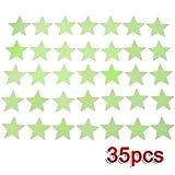 35x Mini Etoiles phosphorescentes Stickers Muraux fluorescents Glow musque nuit lumineux phosphorescentes