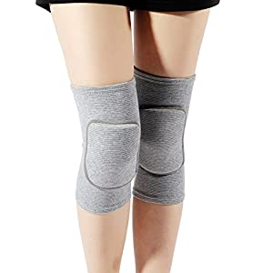 LZEEM Soft Kneepads Cotton Volleyball Tennis 1 Pair-Women Pole Dance Yoga Knee Protector Guards for Athletic Use Adult…