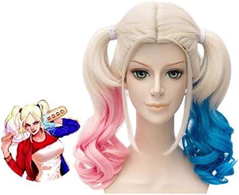 LEMON TREE SL Peluca para Mujer de Harley Quinn Color Rubio con ...