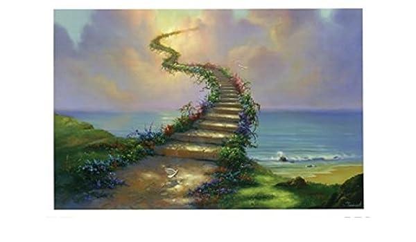 Jim Warren – Escalera al cielo Artistica di Stampa (91,44 x 60,96 cm): Amazon.es: Hogar