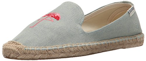 Soludos Women's Smoking Slipper Embroidery Flat