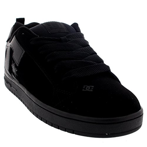 mens-dc-shoes-court-graffik-leather-low-cut-lace-up-skateboard-sneakers-black-black-black-9