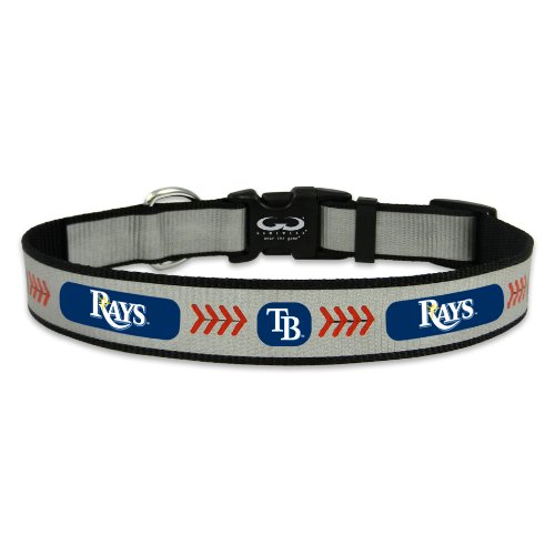 (MLB Tampa Bay Rays Baseball Pet Collar, Medium, Reflective)