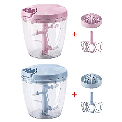 er Blender Wheat Straw Material Drawstring Vegetable Chopper Meat Grinder 900ml ()