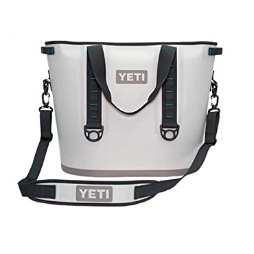 YETI Hopper 40 Portable Cooler Fog Gray / Tahoe Blue