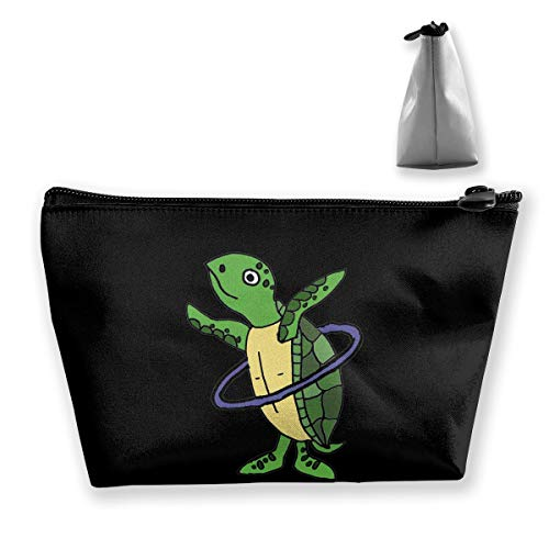 HHFASN Sea Turtle Playing Hula Hoop Portable Travel Cosmetic Bags Fashion Cosmetic and Toiletries Organizer Bag Large Capacity Pencil Case