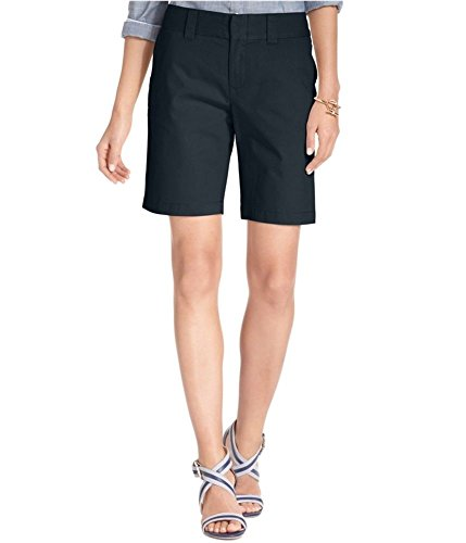 (Tommy Hilfiger Womens Solid Hollywood Bermuda Shorts (12, Navy))