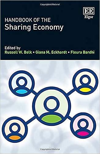 Handbook of the Sharing Economy: Belk, Russell W., Eckhardt, Giana M., Bardhi, Fleura: 9781788110532: Books - Amazon.ca