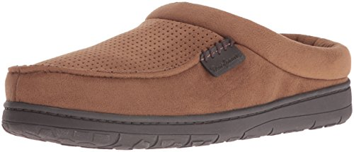 Perforated Chestnut Clog Microfiber Suede Dearfoams Men's Slipper OqYxIn5w