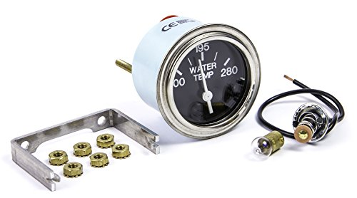 (Sierra International Heavy Duty Electric 280 Degree F Water Temp Gauge for Inboard & Diesel Engines, 2