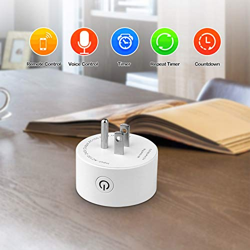 GPCT Smart App Controlled WiFi Plug Outlet. Works W/Alexa/Google Home/IFTTT, Remote Control To Any Connected Home Appliance, No HUB Required, Timer Function, Voice Control Smart Socket- iOS/Android by GPCT (Image #2)