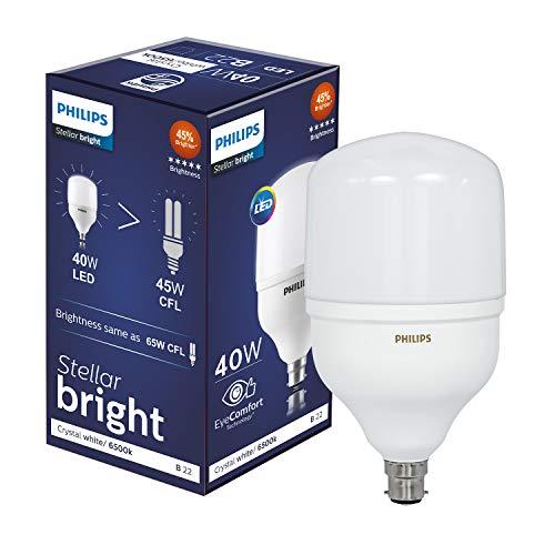 Philips Stellar Bright Base B22 40-Watt LED Bulb (Cool Day Light) (High Wattage, Super Bright, Elegant Design)