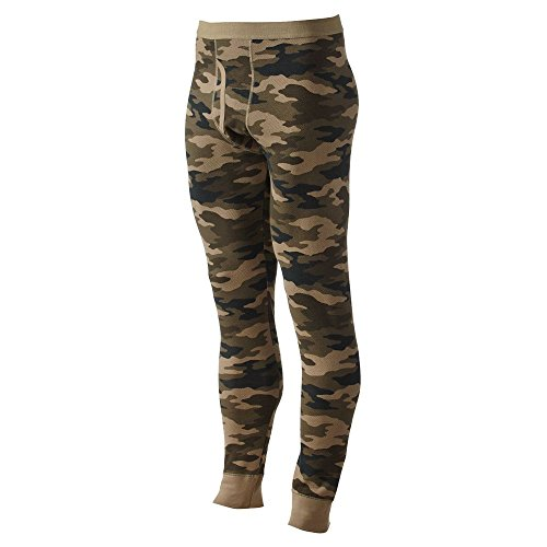 - Croft & Barrow Solid Thermal Underwear Pants Green Camo X-Large