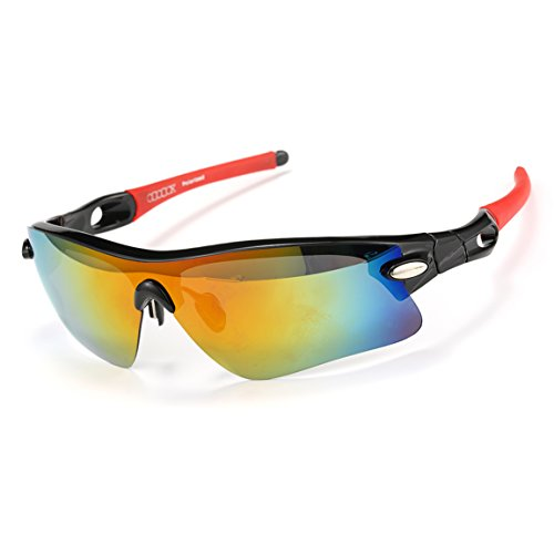 ODODOS Polarized Sports Sunglasses for Driving Cycling Baseball Running Fishing Unbreakable - Sunglasses Best Cricket