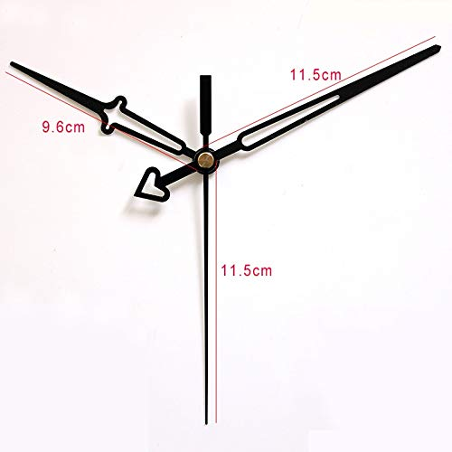 Maslin 100sets S Shaft Clock Hands Quartz Clock Accessory DIY Black Clock Hands Metal Aluminum Material DIY Clock Kits
