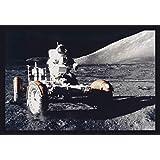 ArtParisienne Lunar Rover Astronaut Eugene Cernan, Apollo 17 NASA 16x24-inch Wall Decal