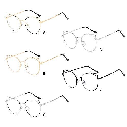 Transparent Lunettes de soleil aviateur verres clairs Lunettes or Cadre Rétro Vintage