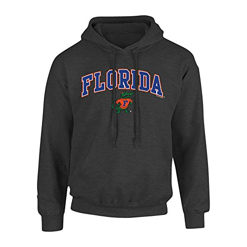 Elite Fan Shop NCAA Men's Florida Gators Hoodie Sweatshirt Dark Heather Arch Florida Gators Dark Heather Large
