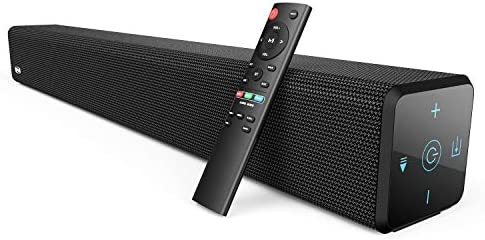 100Watt 32 Inch Soundbar, Bestisan 2.1 Channel Bluetooth 5.0 Sound Bar with Built-in Dual Subwoofer TV Speakers 2020 New Version, 60 Days Home Trial