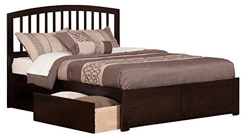 Atlantic Furniture Richmond Queen Platform Bed with Flat Pan