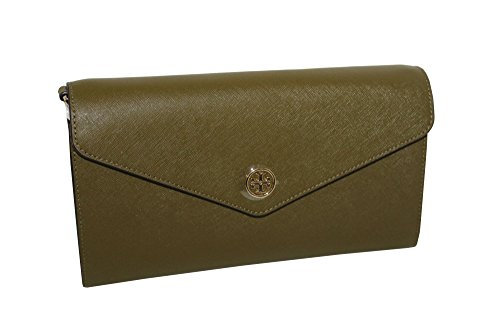 Green Expandable Wallet (Tory Burch Robinson Expandable Conceirge Wallet Green Olive)