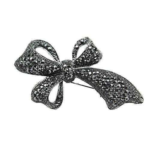 (Creative Brooch Pin Brooch Black Diamond plated gun black butterfly knot brooch high-grade retro corsage Accessories Badge Pin Lapel Pin)