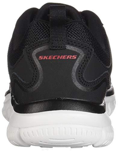 Skechers SCLORIC Black Track Herren Red Grau Sportschuhe rRtqrCw
