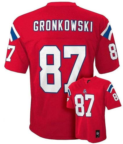 df142005 Outerstuff Rob Gronkowski New England Patriots Red Youth Mid Tier Jersey ( Medium 10/12