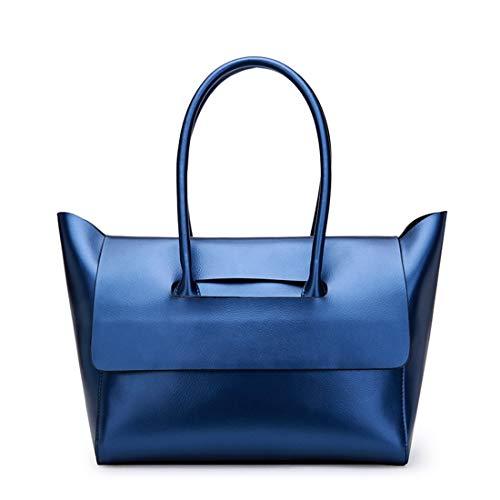 Bandoulière Silver Klerokoh color Véritable Sac Gray En Blue Cuir À Femme Pour zqwzrxE