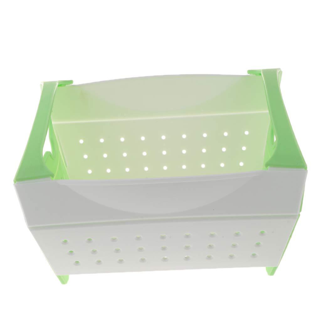 Fenteer Waschen Sieb Kunststoff Gemüse Obst Korb Abtropfsiebe Küche Werkzeuge - Grün