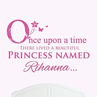 A Beautiful Princess Named Rihanna Large Once Upon a Time Wall Sticker / Decal Bed Room Art Girl / Baby