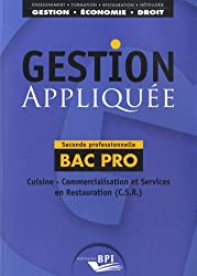 GESTION APPLIQUEE 2nd prof. BAC PRO