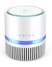 KOIOS Air Purifier for Home, True HEPA Air Filter for Bedroom Small Room and Office Removes Allergies Smoke Dust Pollen Pet Dander, Night Light(Available for California)