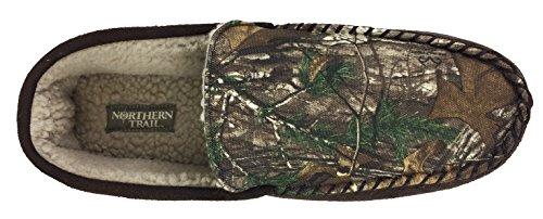 Men's Nylon Realtree Camo Print, Moccasin Slipper