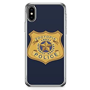Loud Universe Zootopia Police Department iPhone XS Max Case Zootopia iPhone XS Max Cover with Transparent Edges