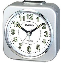 Casio- Alarm Clock With Light And Snooze - Silver (Tq143-8)