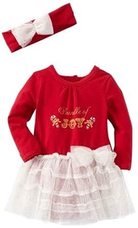 Vitamins Baby-Girls Newborn 2 Piece Dress Set Bundle Of Joy, Red, 9 Months