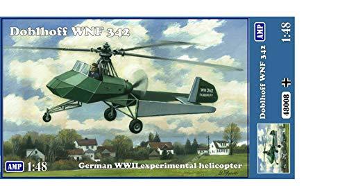 AMP 48-008 – 1/48 – Doblhoff WNF 342 German WW II Helicopter Plastic Model kit