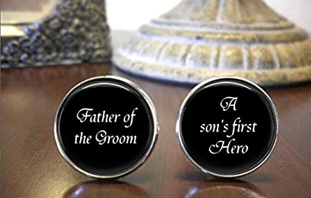 personalized cufflinks Father of the Groom Cufflinks