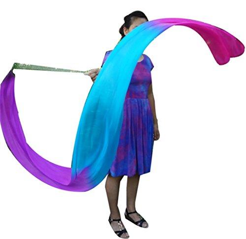 Winged Sirenny 2.5m0.3m Dance Silk Streamer (Purple-Turquoise-Pink) (Buckle Silk)