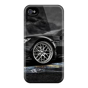 Fashion Tpu Cases For Iphone 4/4s- Bmw Black Defender Cases Covers