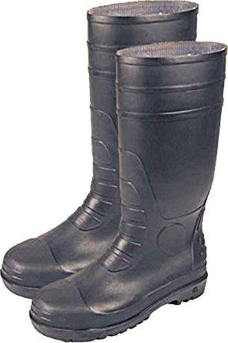 Neu Fuß Sicherheit Gummistiefel schwarzes PVC Nitril Stahlkappe & Mittelsohle Schuhe