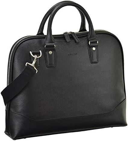 平野鞄 ビジネスバッグ ショルダーバッグ メンズ ブリーフケース B4 A4 ショルダー付き 通勤 ビジネス 黒 ブラック 横幅38cm +オリジナル高級ムートングローブ
