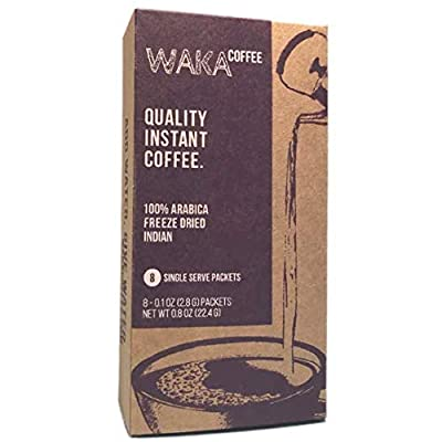 Waka Coffee Quality Instant Coffee, Indian, Light Roast | 100% Arabica, Freeze Dried | We Bring The Instant Back. by Waka Coffee LLC