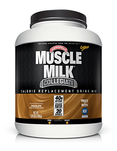 Lean Mass Complex Chocolate (Muscle Milk Collegiate Protein Powder, Chocolate, 20g Protein, 5.29 Pound)