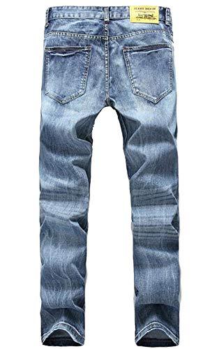 Stretti Classici Especial Da S Aderenti Blu Jeans Blau Fashion Estilo Uomo Designer Street Grind Chiaro Style Casual In Classico Cotone gqpUfp