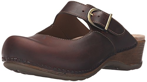 Dansko Women's Martina Mule, Antique Brown Oiled, 37 EU/6.5-7 M - Stores Diego Downtown San