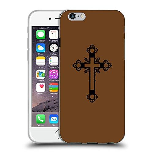 GoGoMobile Coque de Protection TPU Silicone Case pour // Q07900633 Christian Cross 15 Sépia // Apple iPhone 7
