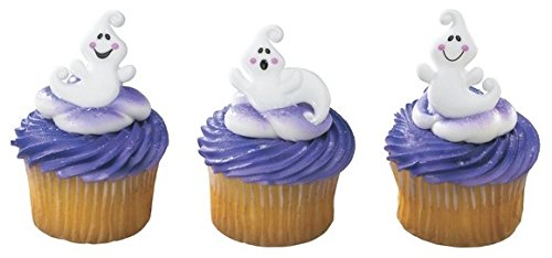 Friendly Halloween Ghosts Cupcake Rings - 24 pcs by Bakery Supplies
